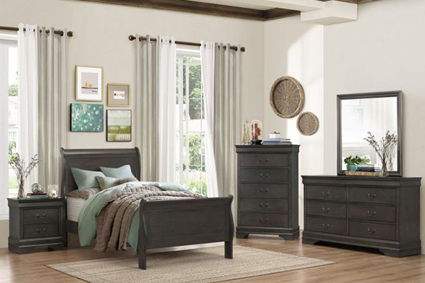 6pc Twin Bedroom Set 2147 Grey Big Dan S Furniture