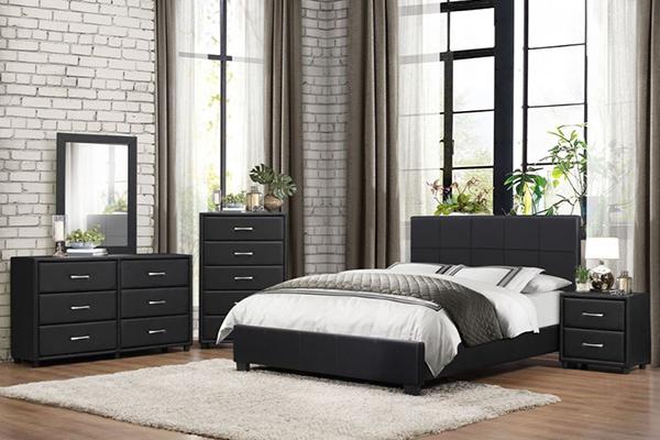 QUEEN BEDROOM SET #2220 BLACK