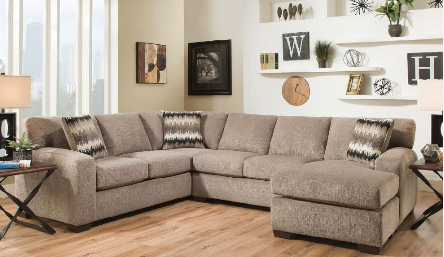 5250 sectional pewter : pewter sectional - Sectionals, Sofas & Couches