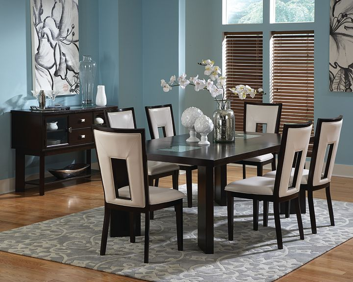 7 Pc. Contemporary Cherry Dining Room Set | Big Dan\'s Furniture ...