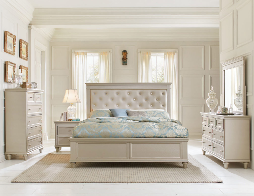 tufted headboard bedroom set. HE 1928 BED SET 6PC KING BEDROOM  Big Dan s Furniture Mattress