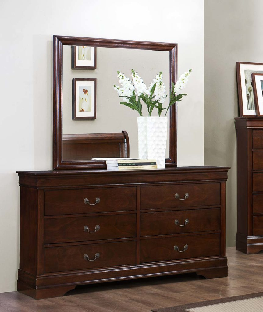 LOUIS PHILIPPE TWIN 6PC BEDROOM SET 2147 CHERRY Big Dan 39 S Furniture A
